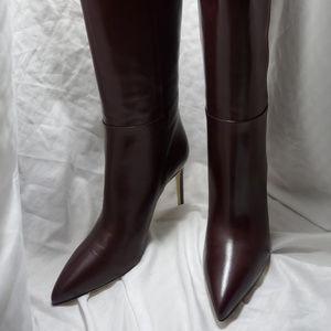 Gucci Burgundy Stiletto Boots Size 40.5 New in Box